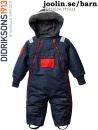 Didriksons Coso navy coverall baby