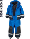Didriksons Boardman bright blue fleecefodrat regnset, barn