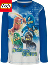 Lego Ninjago print blå, barntröja lång ärm