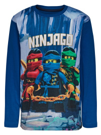 Lego Ninjago print blå barntröja, lång ärm