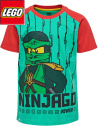 Lego Ninjago röd/grön kortärmströja