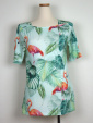 Flamingo-top, Tropical print