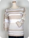 Micha-tröja med infälld spets