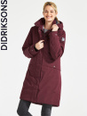 Didriksons Eline, wine red parka