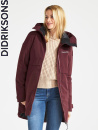 Didriksons Helle, wine red parka