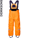 Didriksons Idre bright orange barnbyxa