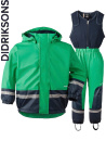 Didriksons Boardman bright green fleecefodrat regnset