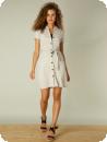 Skjortklänning i linfärgad bomull