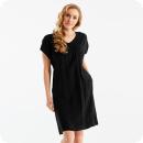 Cotonel-klänning i skön modell, svart