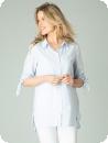 Skjorta, ljusblå-vit