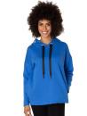 Mysig hood-tröja med fickor, electric blue