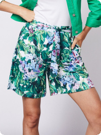 Micha-shorts, hortensia