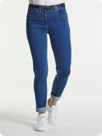 LauRie-jeans Laura slim, mellanblå denim