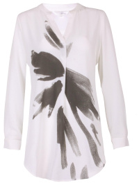 Tunikatop med print, offwhite