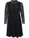 Vacker klänning med spetsliv, svart